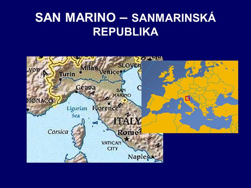SAN MARINO – SANMARINSKÁ REPUBLIKA