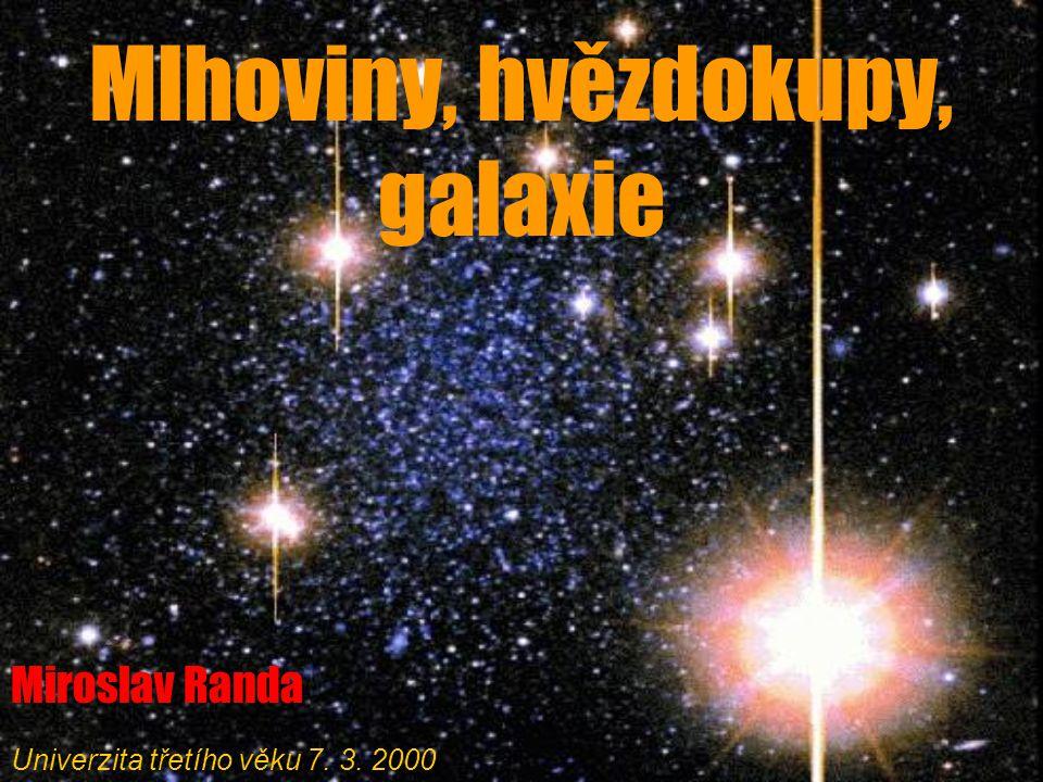 Mlhoviny, hvězdokupy, galaxie
