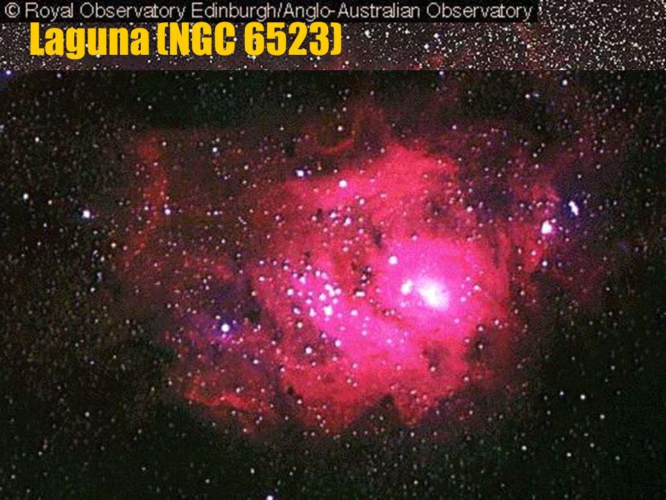 Laguna (NGC 6523) v souhvězdí Střelce vzdálenost: 4500 světelných let