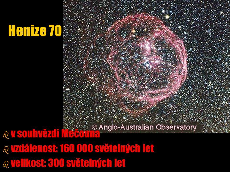 Henize 70 v souhvězdí Mečouna vzdálenost: 160 000 světelných let