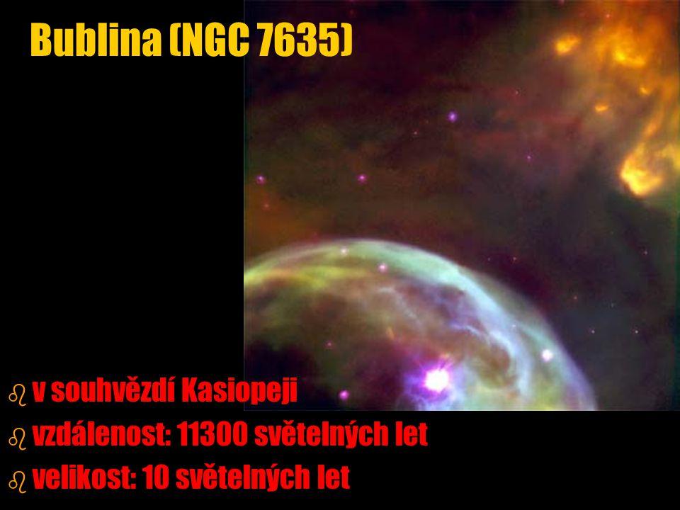 Bublina (NGC 7635) v souhvězdí Kasiopeji