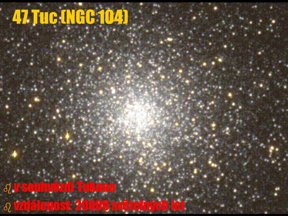47 Tuc (NGC 104) v souhvězdí Tukana vzdálenost: 20000 světelných let