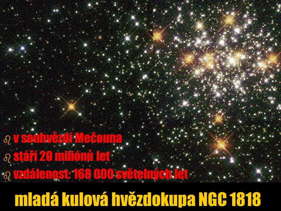 mladá kulová hvězdokupa NGC 1818