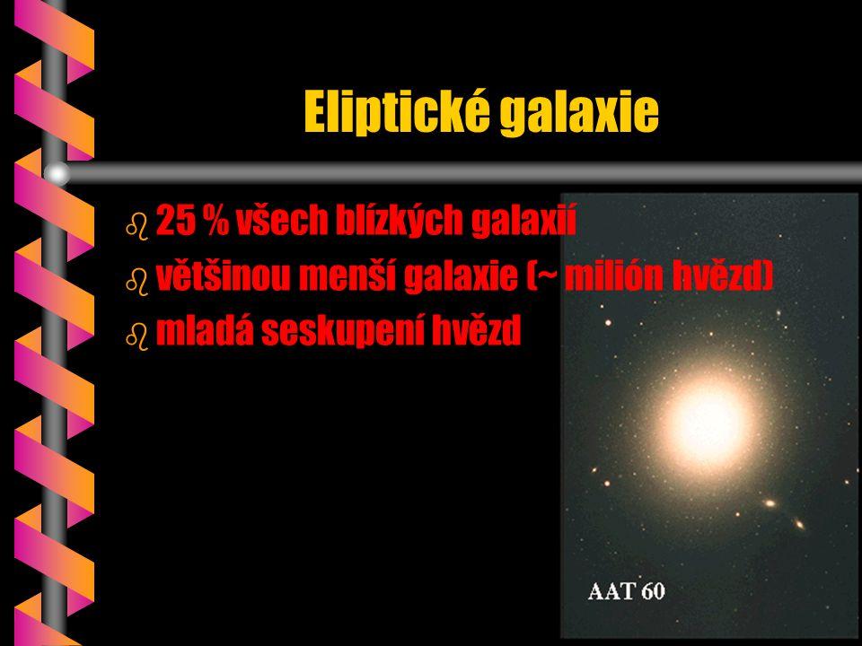 Eliptické galaxie 25 % všech blízkých galaxií