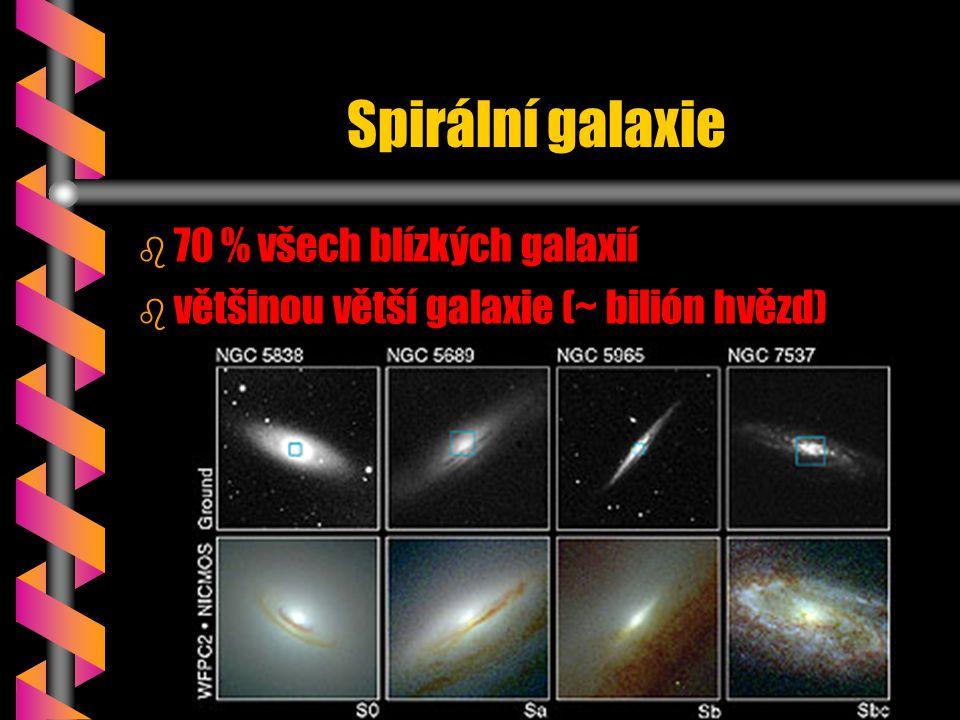Spirální galaxie 70 % všech blízkých galaxií