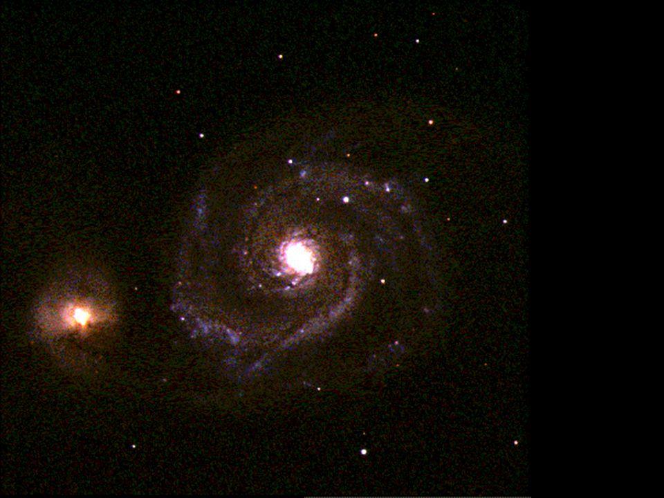 Vírová galaxie (M51, NGC 5194) v souhvězdí Honicích psů
