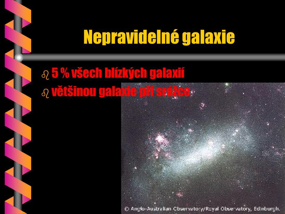 Nepravidelné galaxie 5 % všech blízkých galaxií