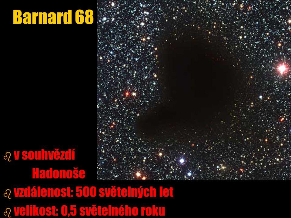 Barnard 68 v souhvězdí Hadonoše vzdálenost: 500 světelných let