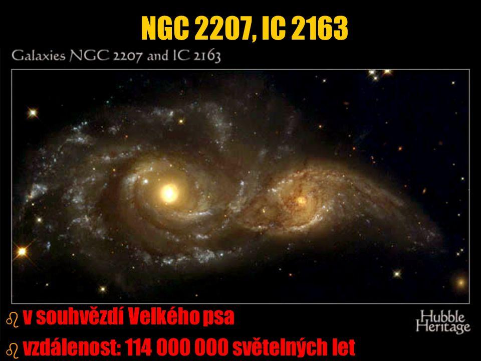 NGC 2207, IC 2163 v souhvězdí Velkého psa