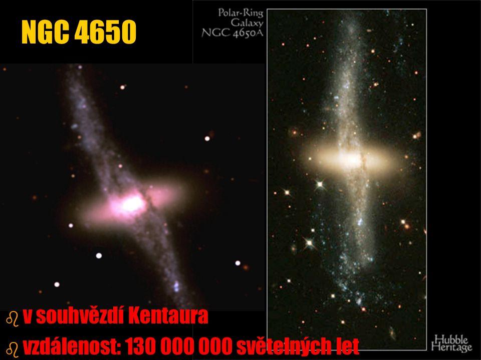 NGC 4650 v souhvězdí Kentaura vzdálenost: 130 000 000 světelných let