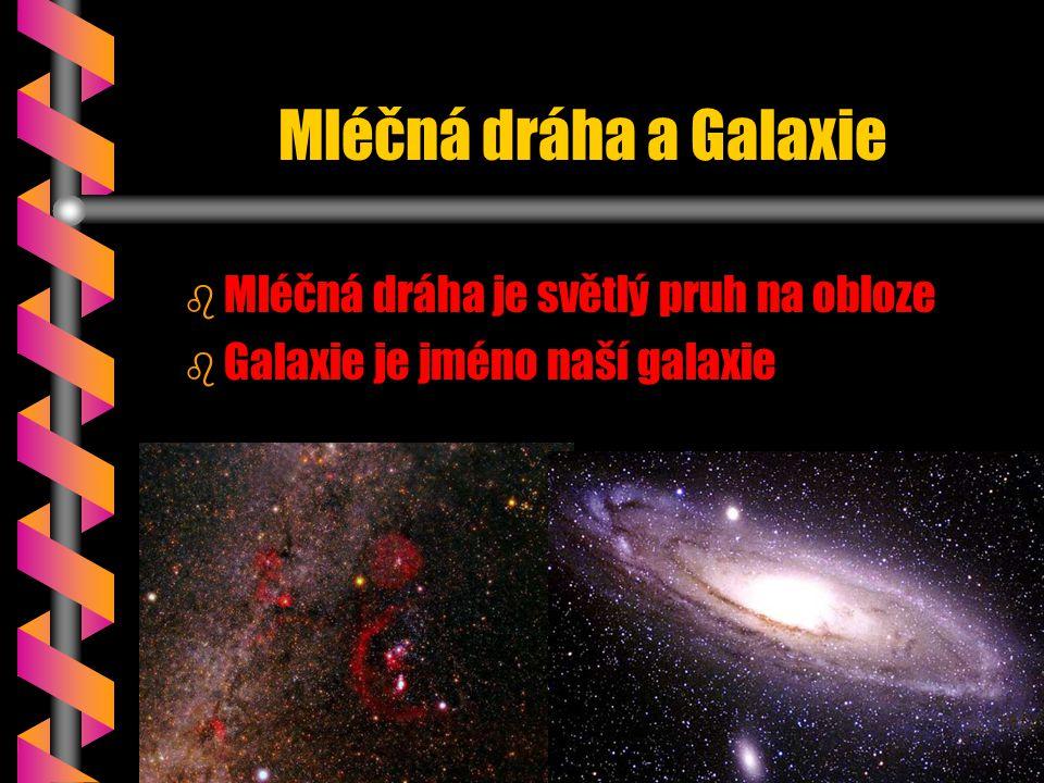 Mléčná dráha a Galaxie Mléčná dráha je světlý pruh na obloze