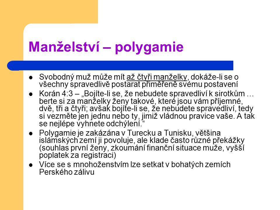 Manželství – polygamie