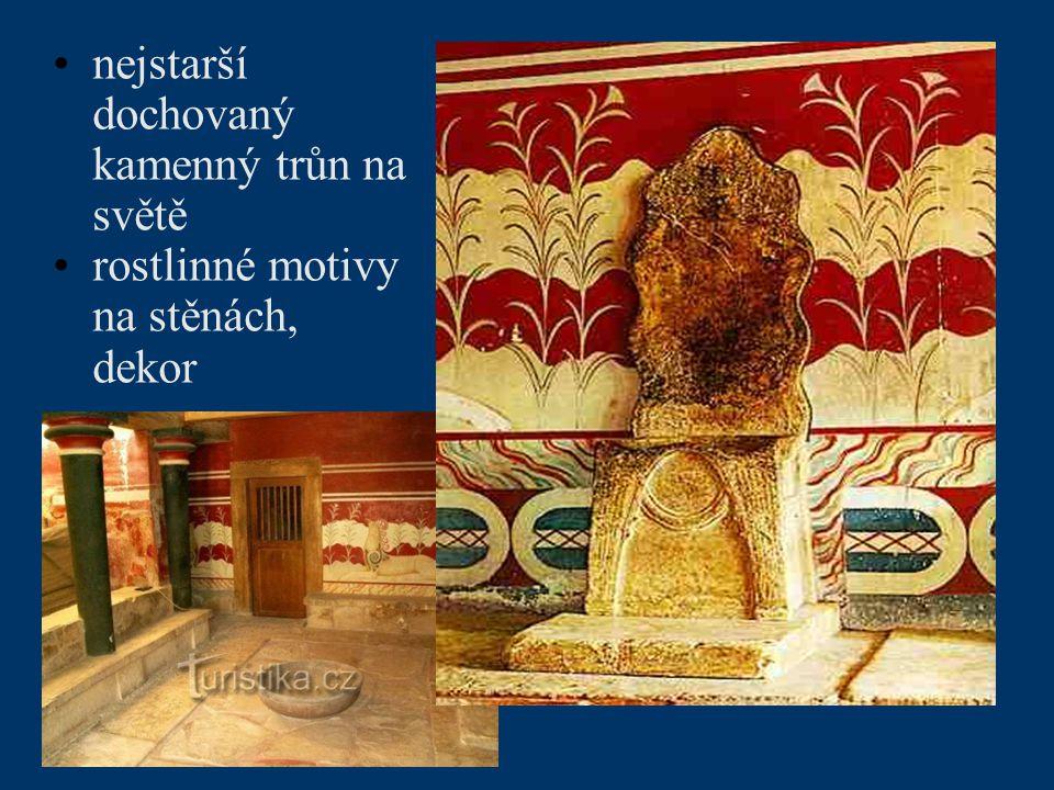 nejstarší dochovaný kamenný trůn na světě