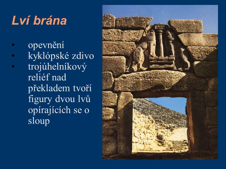 Lví brána opevnění kyklópské zdivo