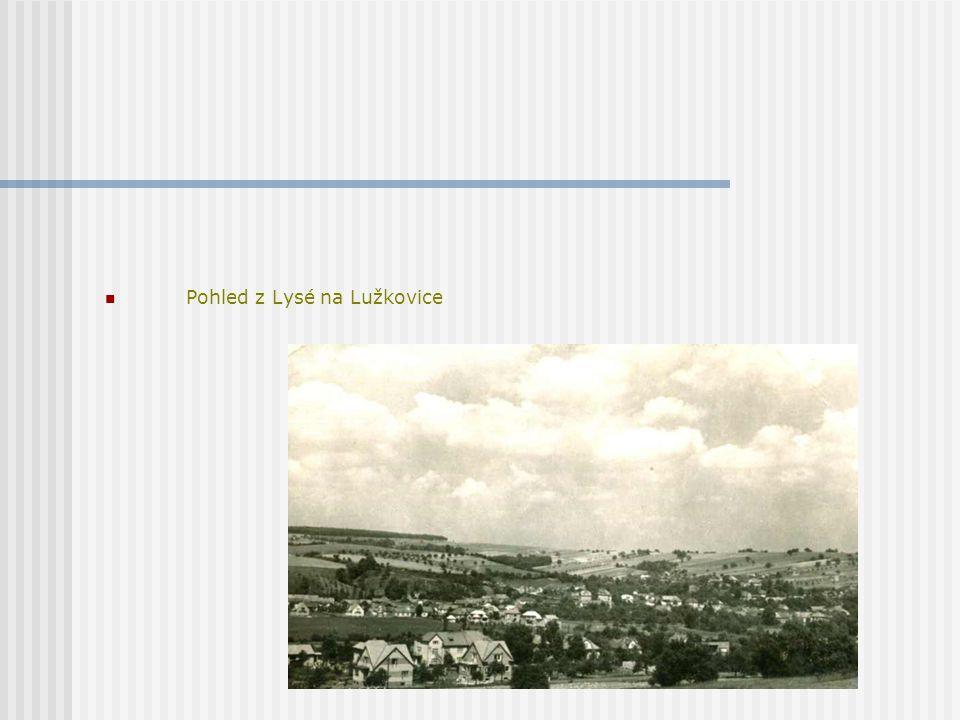 Pohled z Lysé na Lužkovice