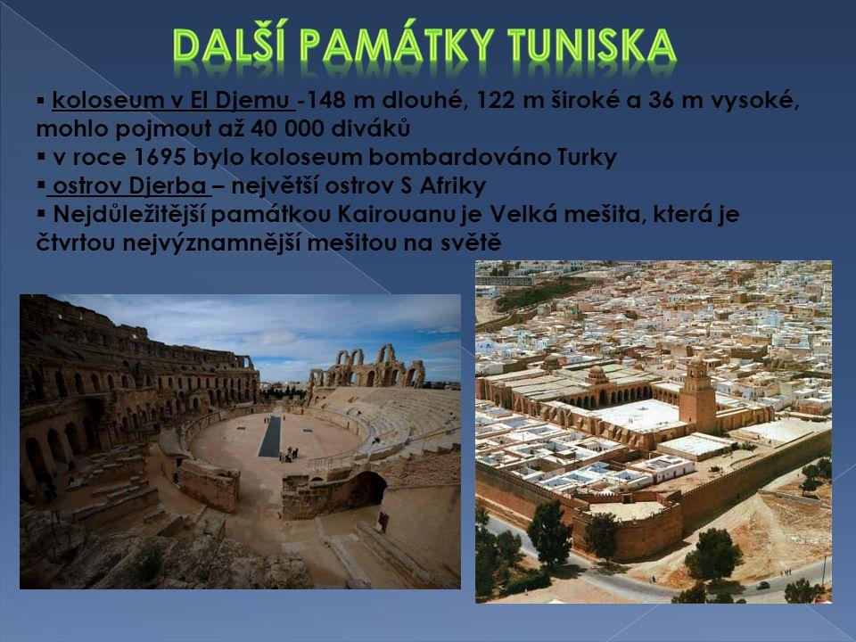 Další památky tuniska v roce 1695 bylo koloseum bombardováno Turky