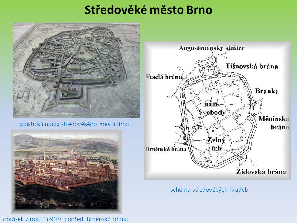 Středověké město Brno plastická mapa středověkého města Brna