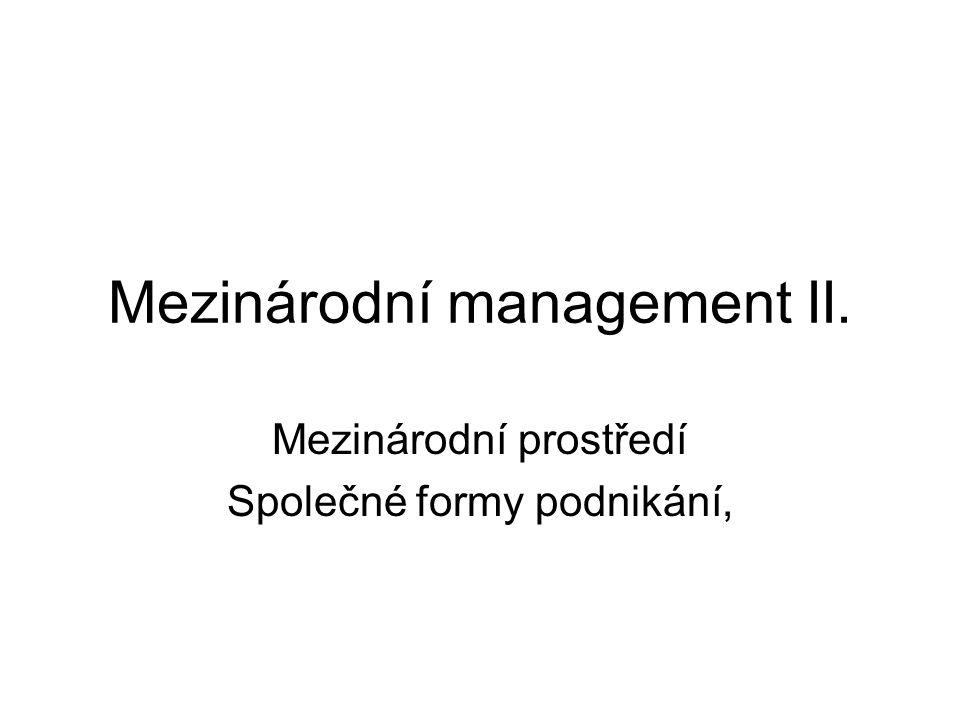 Mezinárodní management II.