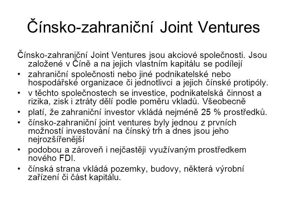 Čínsko-zahraniční Joint Ventures