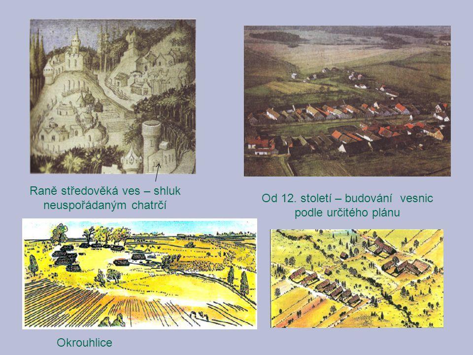 Raně středověká ves – shluk neuspořádaným chatrčí