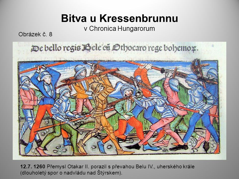 Bitva u Kressenbrunnu v Chronica Hungarorum