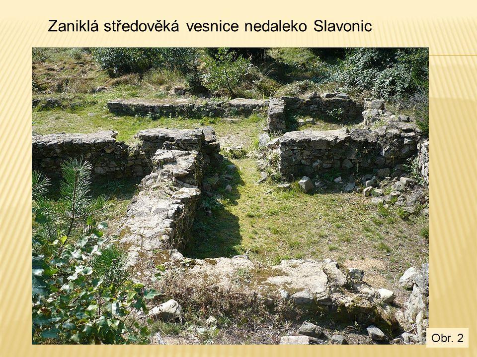 Zaniklá středověká vesnice nedaleko Slavonic