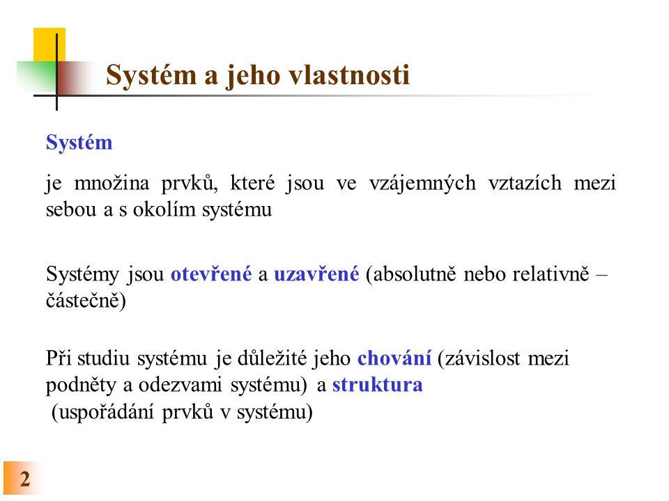 Systém a jeho vlastnosti