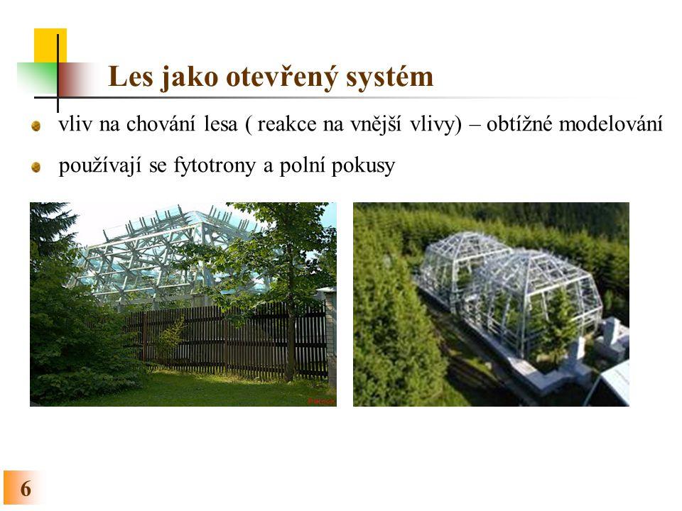 Les jako otevřený systém