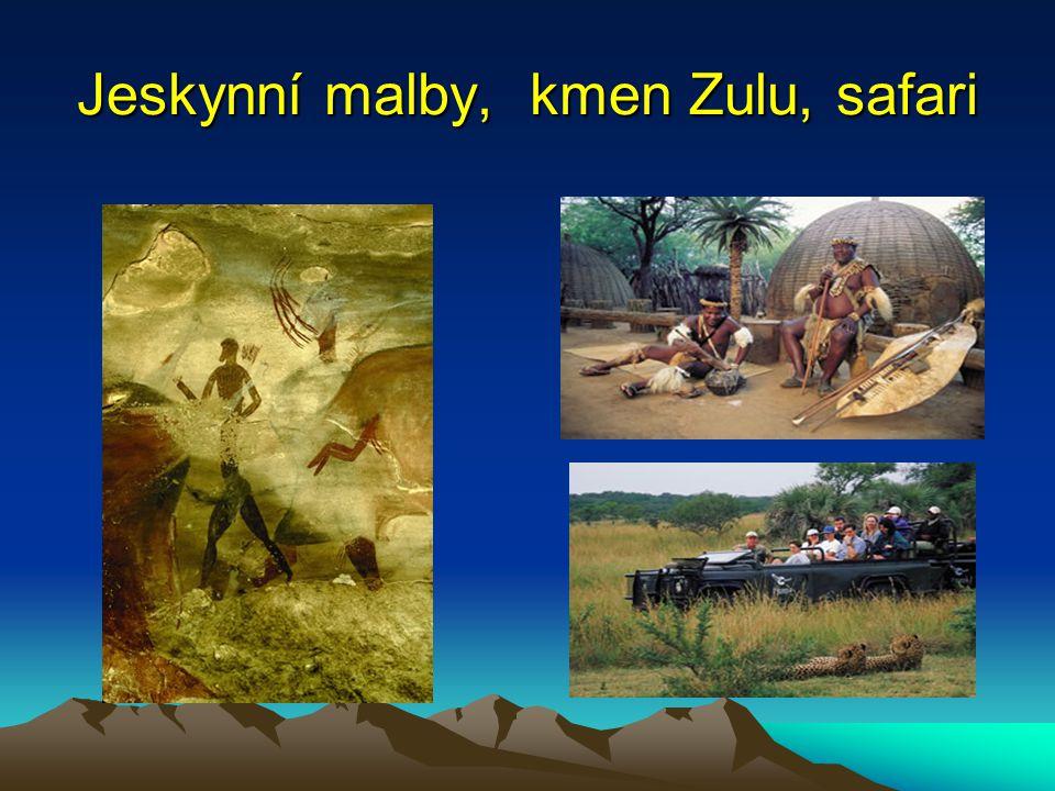 Jeskynní malby, kmen Zulu, safari