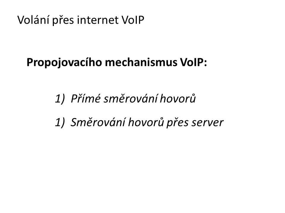 Volání přes internet VoIP