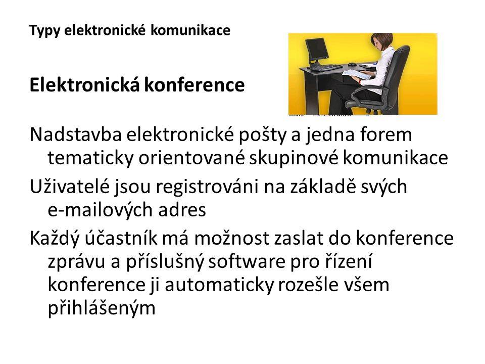 Typy elektronické komunikace