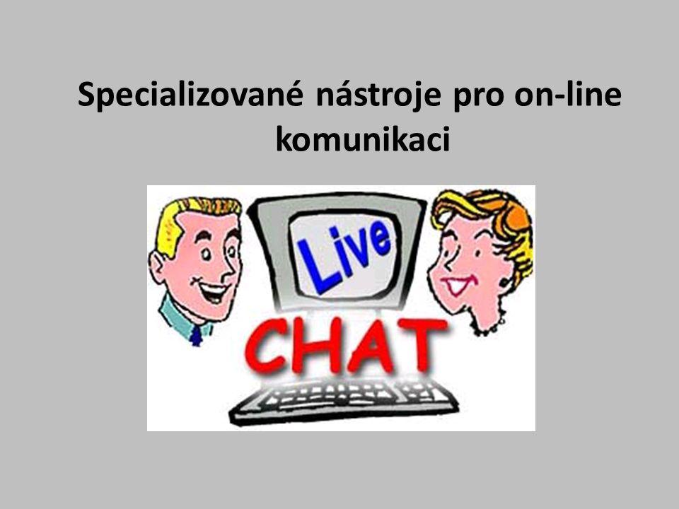 Specializované nástroje pro on-line komunikaci