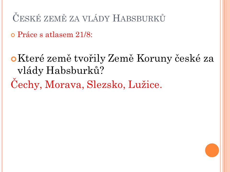 České země za vlády Habsburků