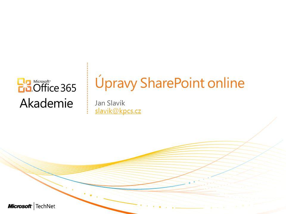 Úpravy SharePoint online