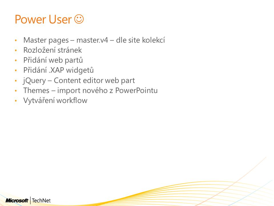 Power User  Master pages – master.v4 – dle site kolekcí