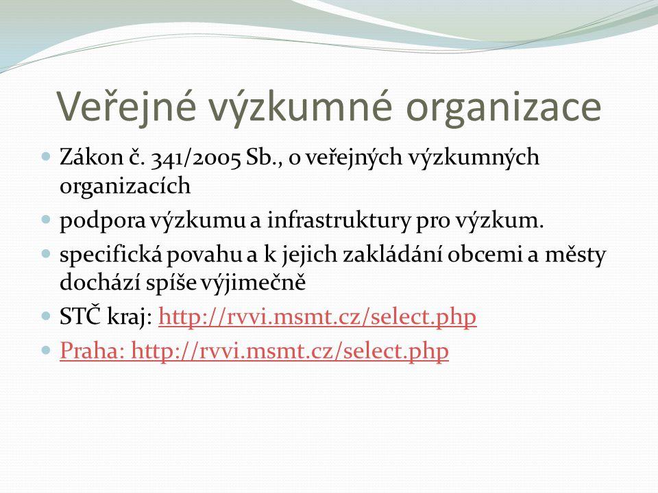 Veřejné výzkumné organizace