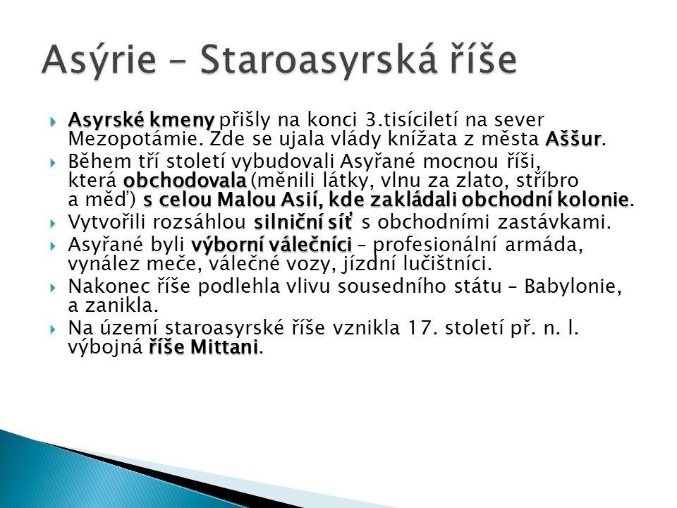 Asýrie – Staroasyrská říše