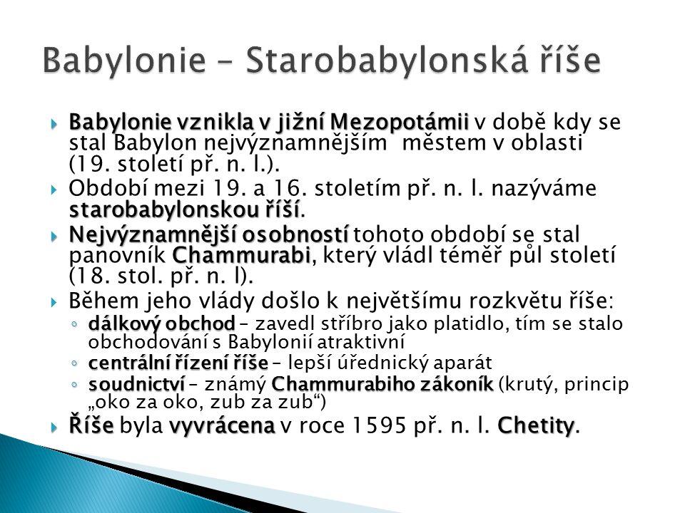 Babylonie – Starobabylonská říše