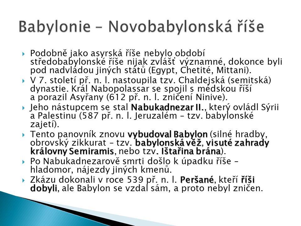 Babylonie – Novobabylonská říše