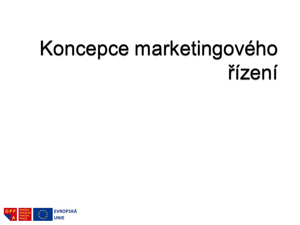 Koncepce marketingového řízení