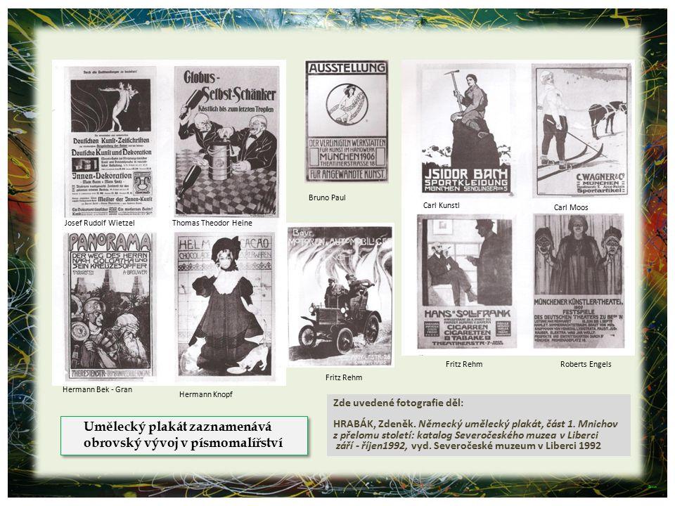 Umělecký plakát zaznamenává obrovský vývoj v písmomalířství