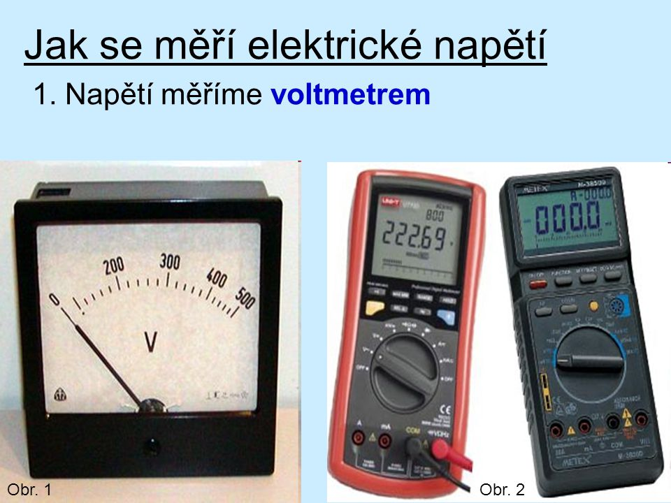 Jak se měří elektrické napětí