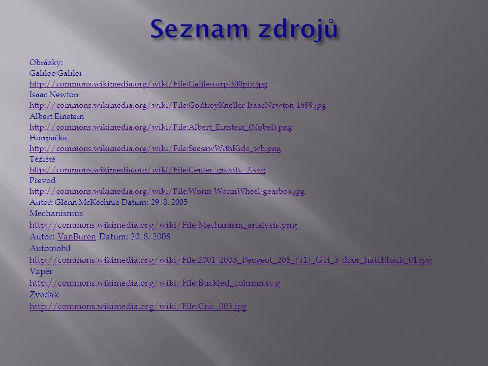 Seznam zdrojů Mechanismus