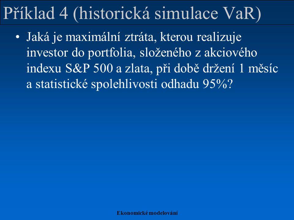Příklad 4 (historická simulace VaR)