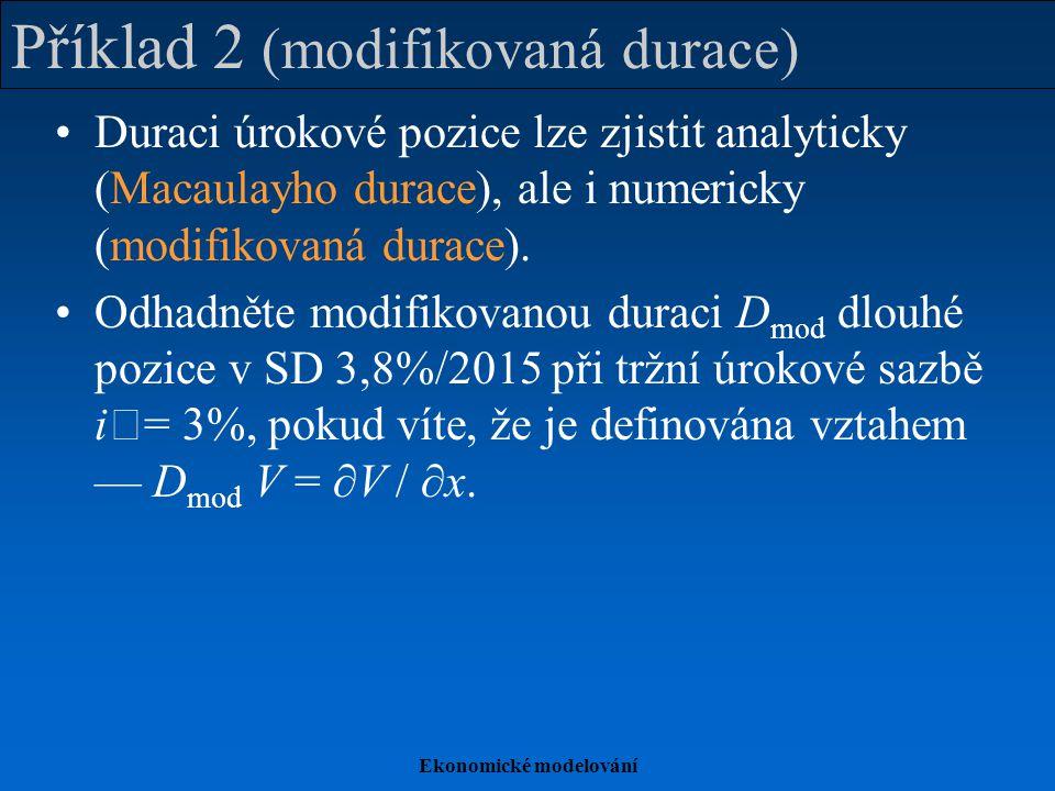 Příklad 2 (modifikovaná durace)
