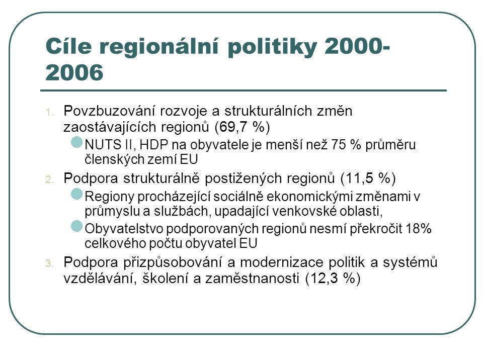 Cíle regionální politiky 2000-2006