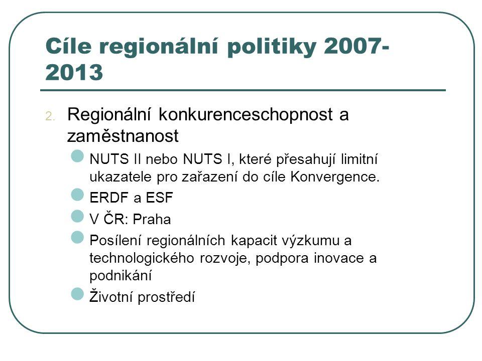 Cíle regionální politiky 2007-2013