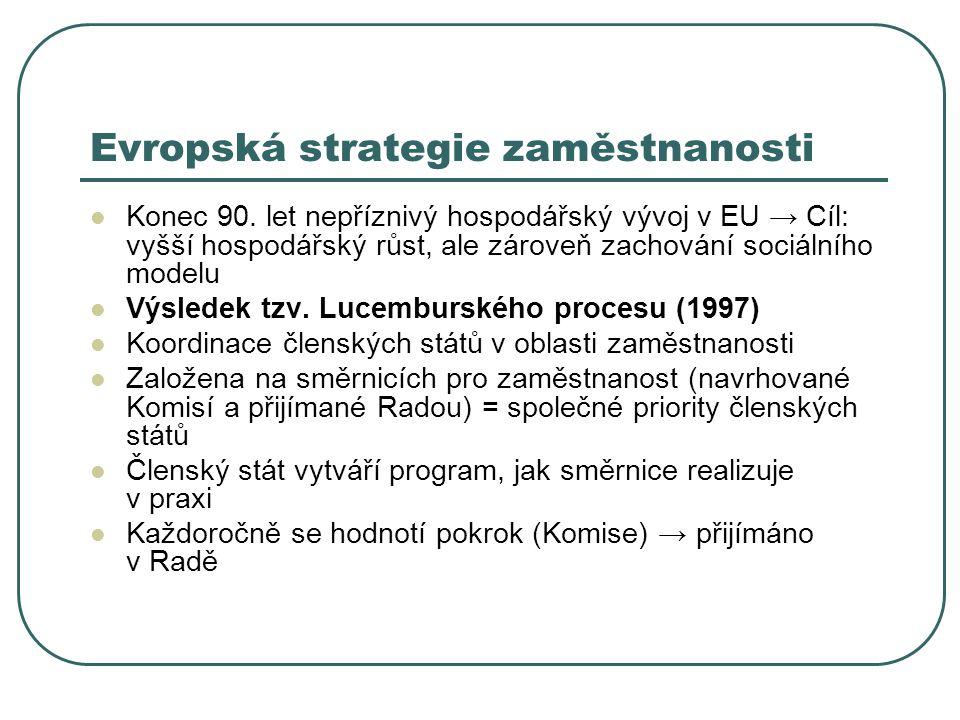 Evropská strategie zaměstnanosti