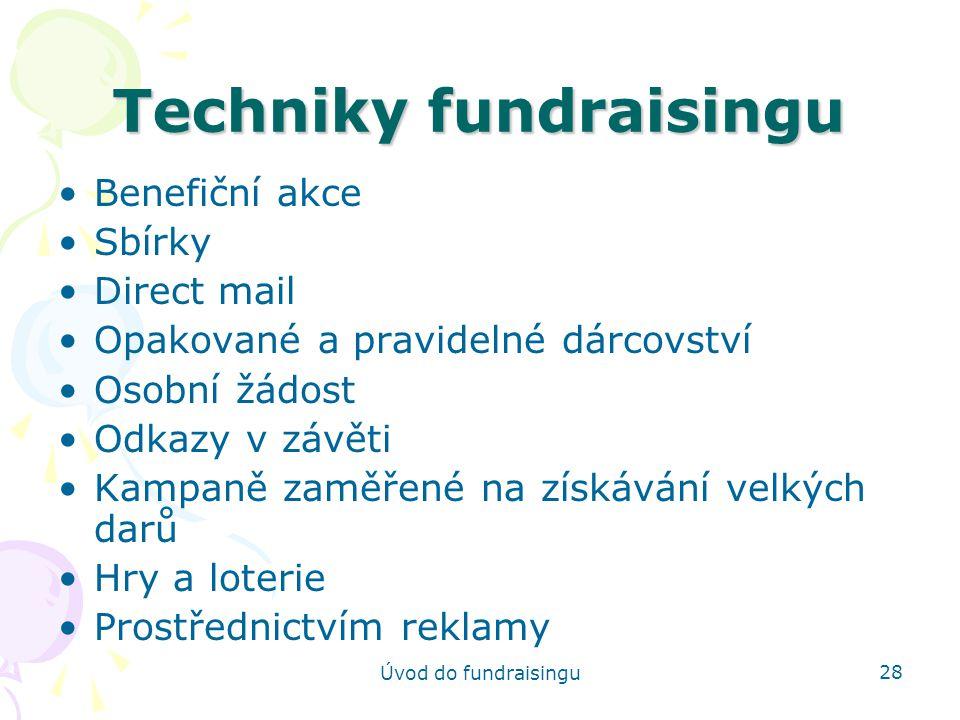 Techniky fundraisingu