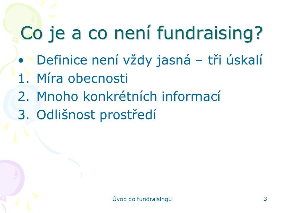 Co je a co není fundraising